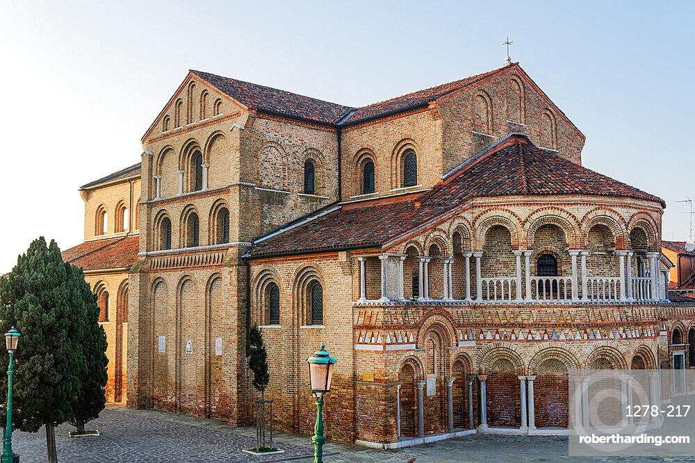 Murano, Italy external day view of 7th century Basilica Santa Maria e San Donato (Basilica dei Santi Maria e Donato).