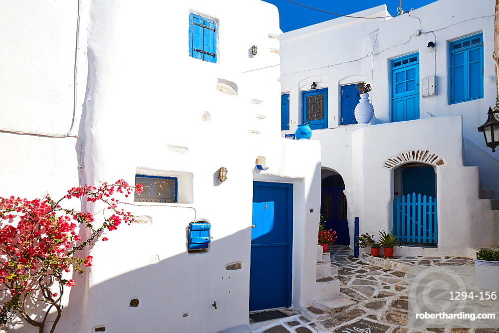 Lemkes village Cycladic architecture and colors