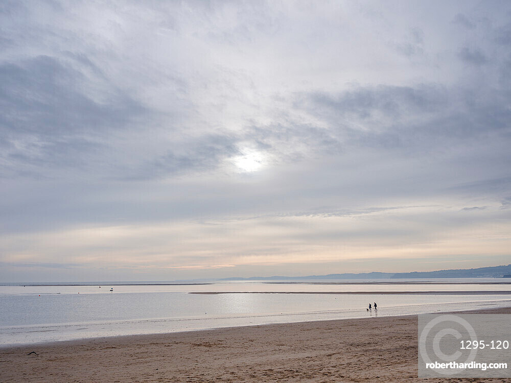 Tranquil scene in soft early afternoon light on Exmouth beach