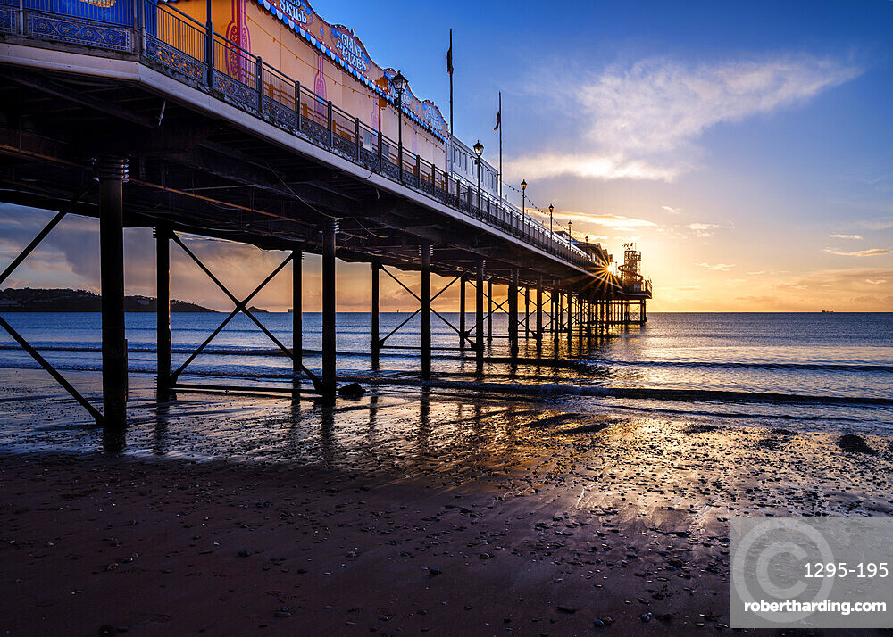 The photogenic Pier at Paignton, Devon UK