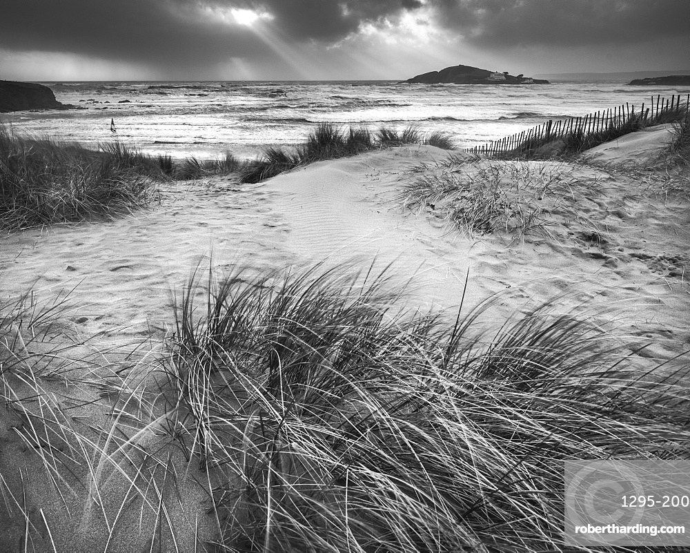 The beach at Bantham during a storm, near Kingsbridge, Devon, England, United Kingdom, Europe