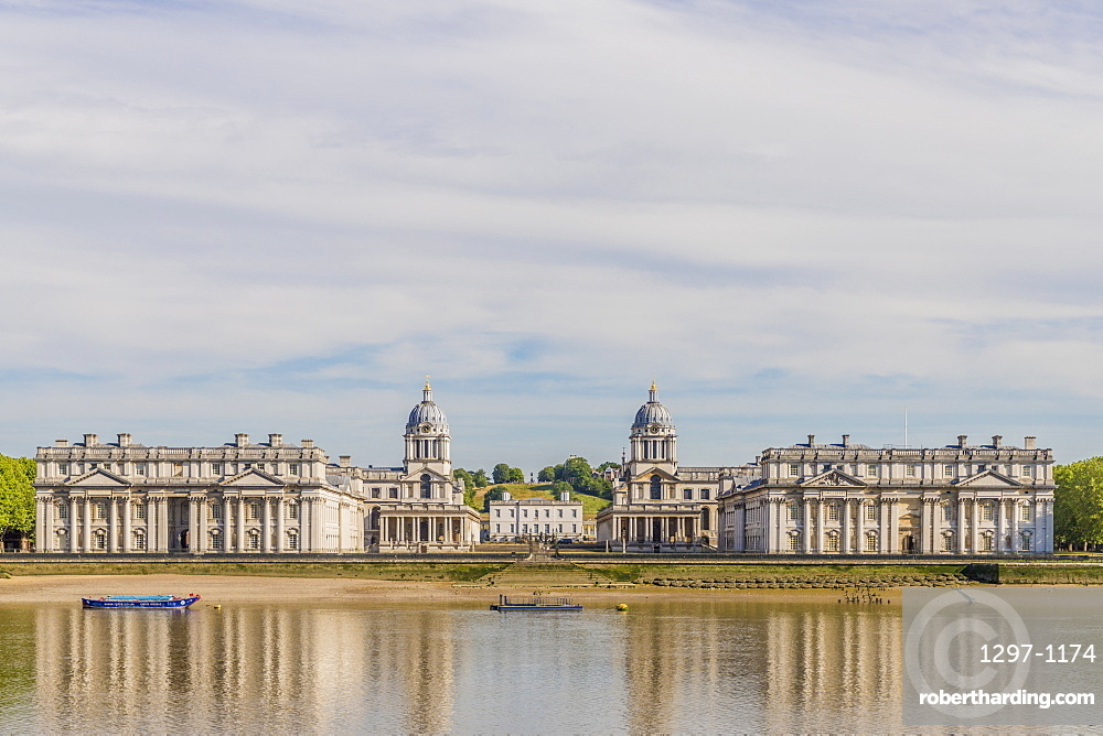 Old Royal Naval College, UNESCO, Site,and River Thames, , Greenwich, London, England, United Kingdom, Europe