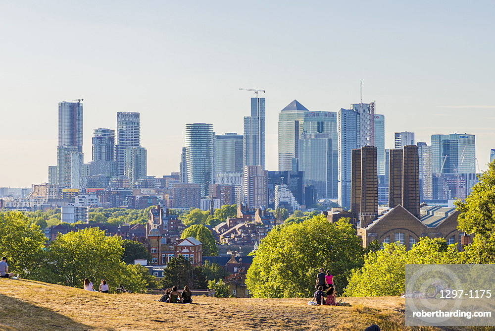Canary Wharf Cityscape, Greenwich, London, England, United Kingdom, Europe