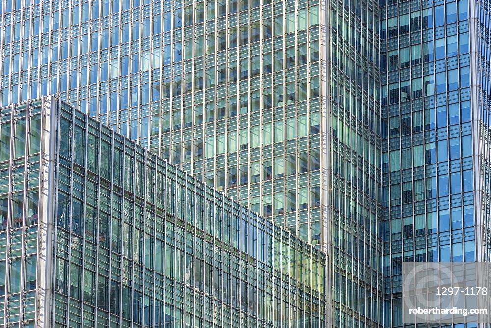 Office architecture, Canary Wharf, London, England, United Kingdom, Europe