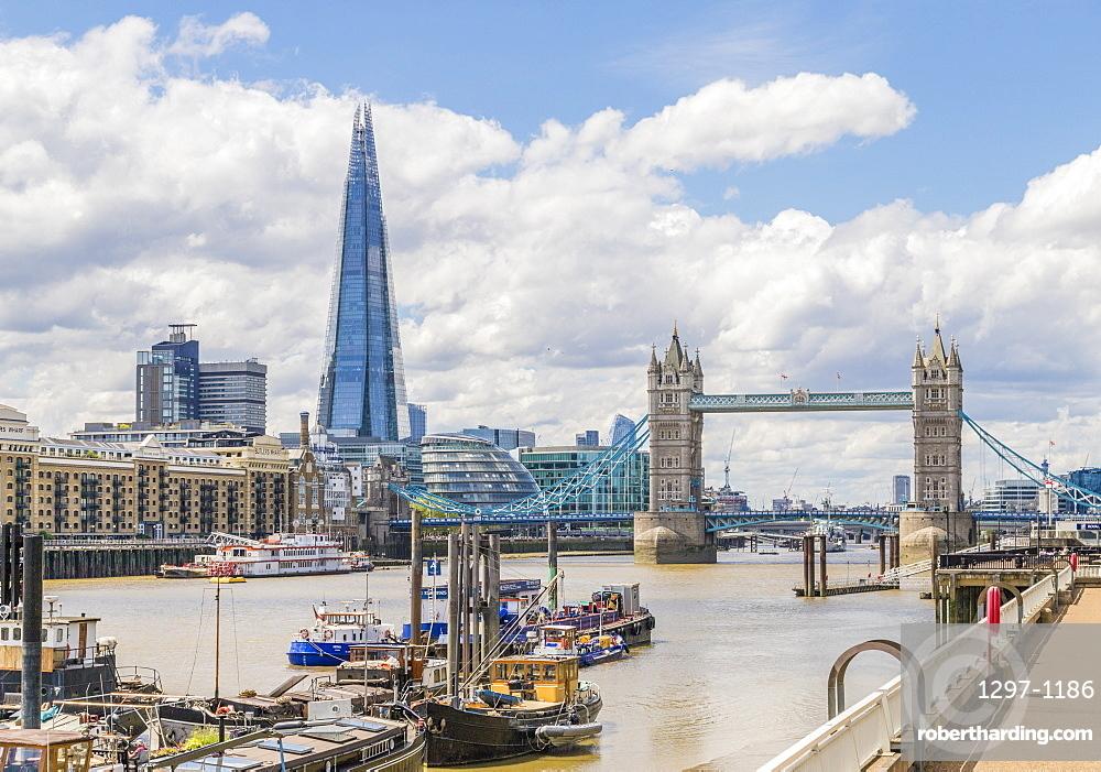 The Shard, Tower Bridge and Riveer Thames, London, England, United Kindom, Europe