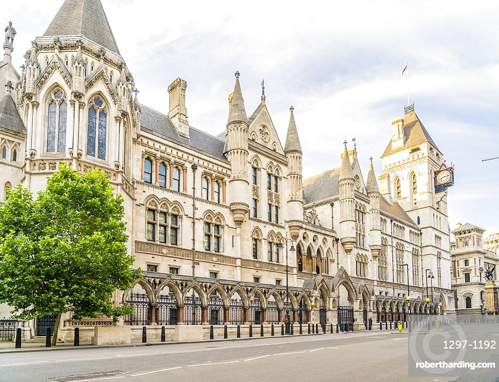 The Royal Courts of Justice in Holborn, London, UK, Europe
