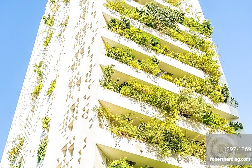 Modern architecture of the EY building in Nicosia, Cyprus, Europe