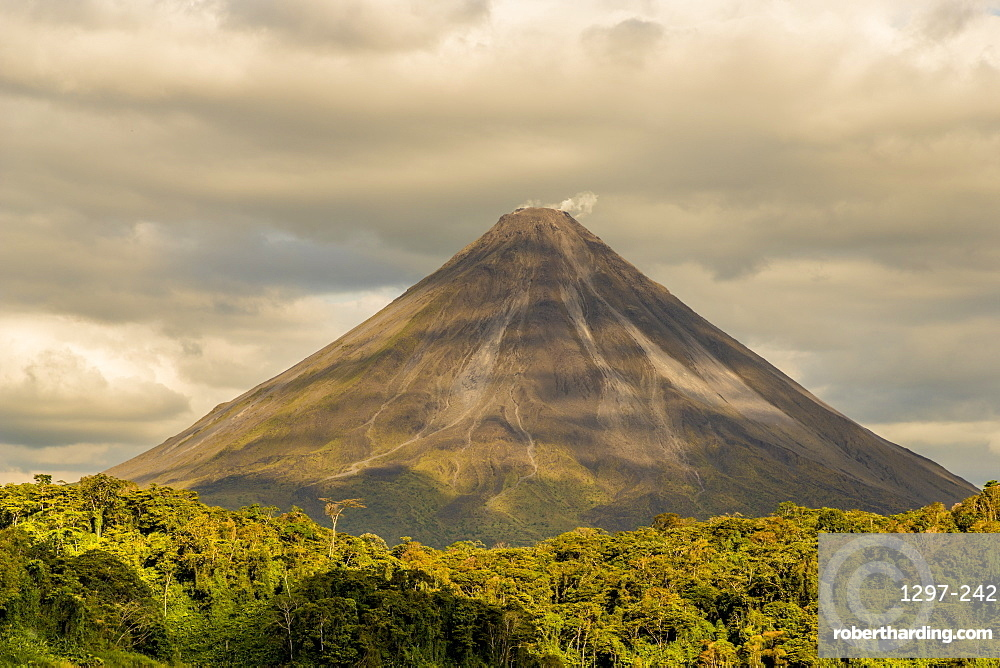 Volcano Arenal, seen from Lake Arenal, Costa Rica, Central America