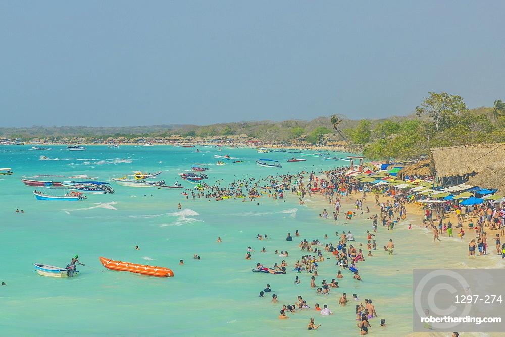 Playa Blanca beach in Cartagena, Colombia, South America