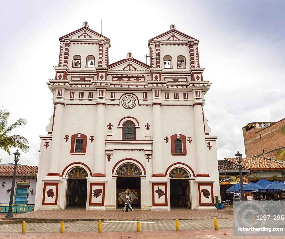 The Church of Nuestra Senora del Carmen, Guatape, Colombia, South America