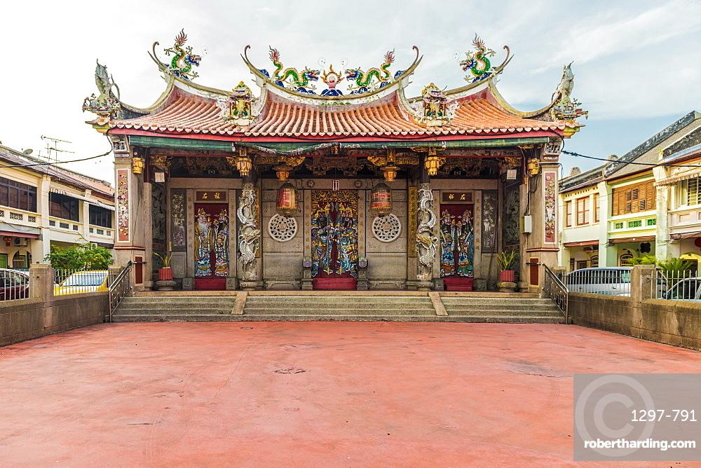 Eng Chuan Tong Tan Kongsi clan house in George Town, Penang Island, Malaysia, Southeast Asia, Asia