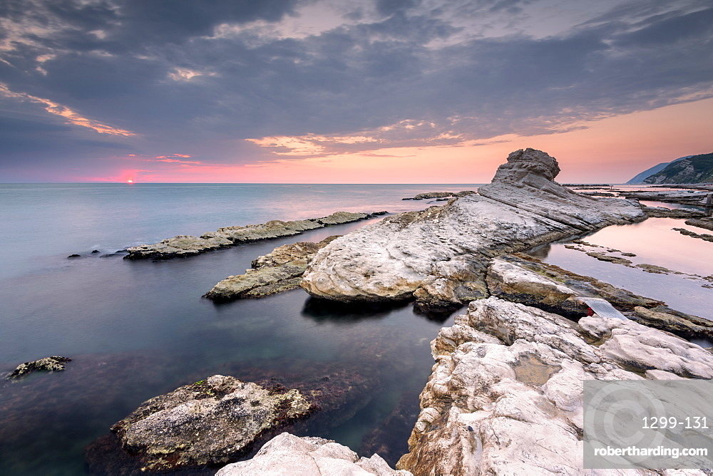 Pope's Chair at dawn, Ancona, Marche, Italy, Europe