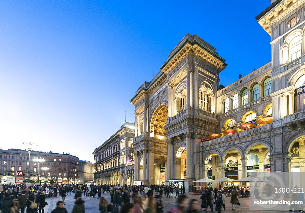 Galleria Vittorio Emanuele II at the Cathedral Square (Doumo) in Milan, Lombardy, Italy, Europe