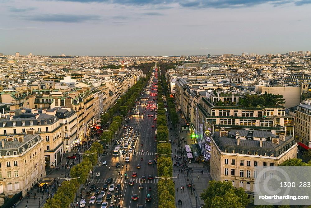 Avenue des Champs-Elysees, Paris, France, Europe