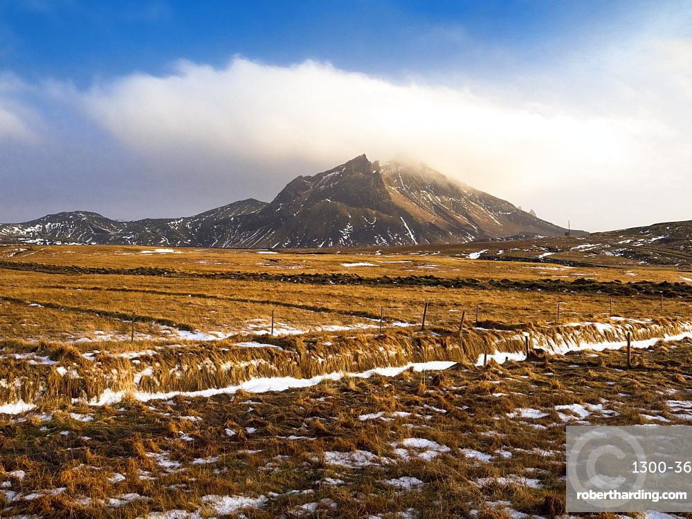 Mountain landscape close to Vik, Iceland, Polar Regions