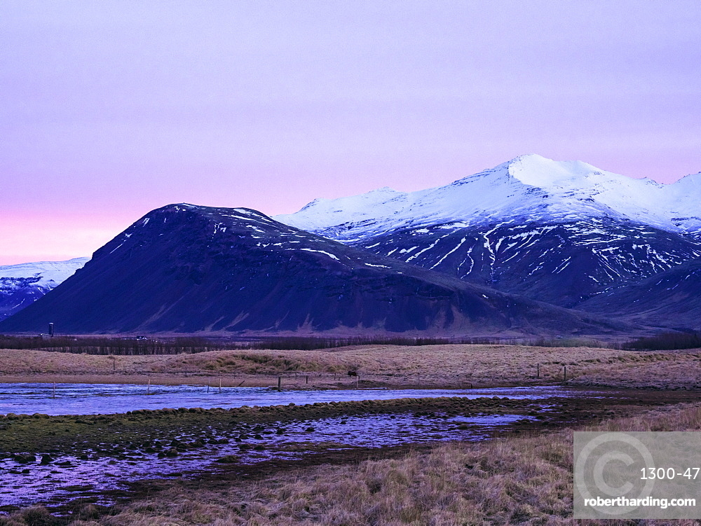 Mountains early in the morning at sunrise in the Snaefellsnes Peninsula, Iceland, Polar Regions