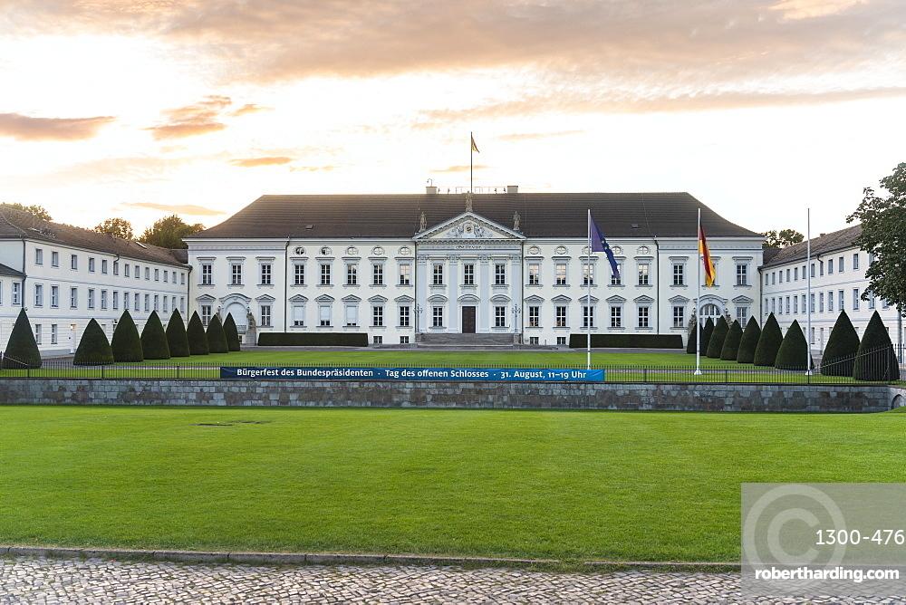 Schloss Bellevue presidential palace in Berlin tiergarten