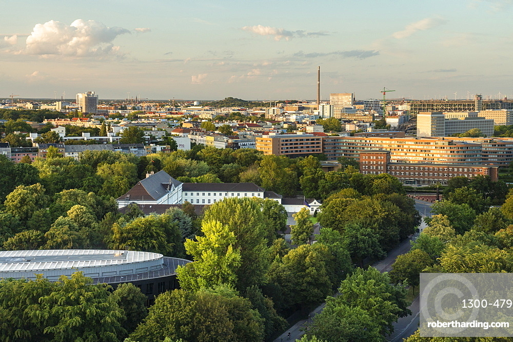 View of Berlin skyline from Siegessäule