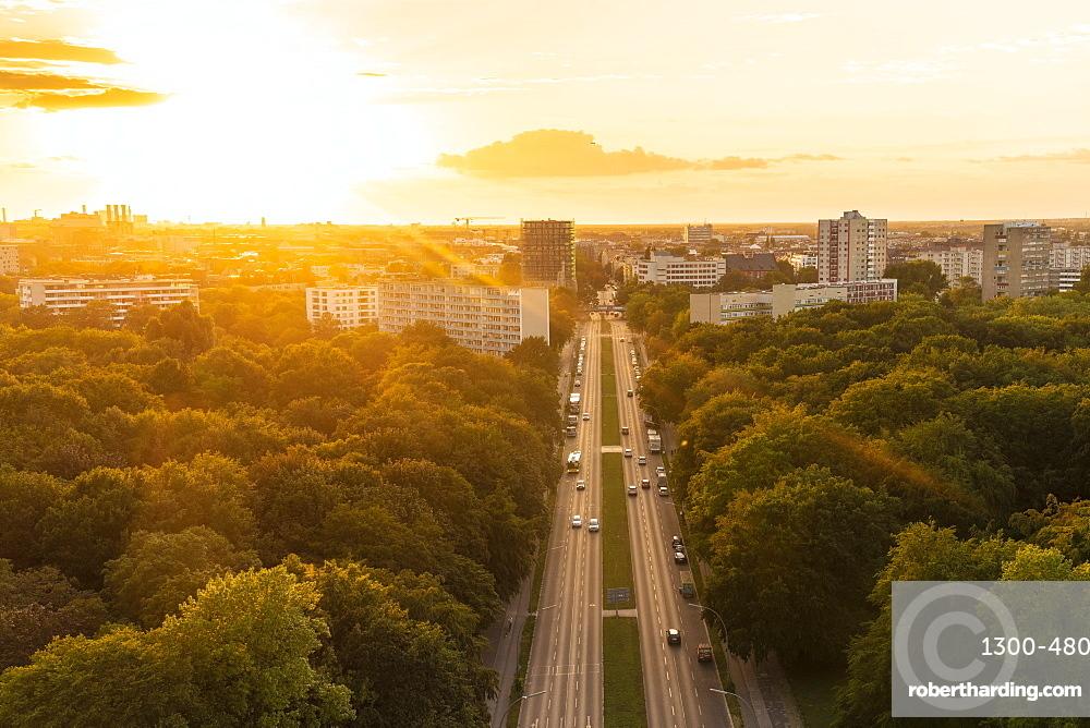 View of Berlin skyline from Siegessäule