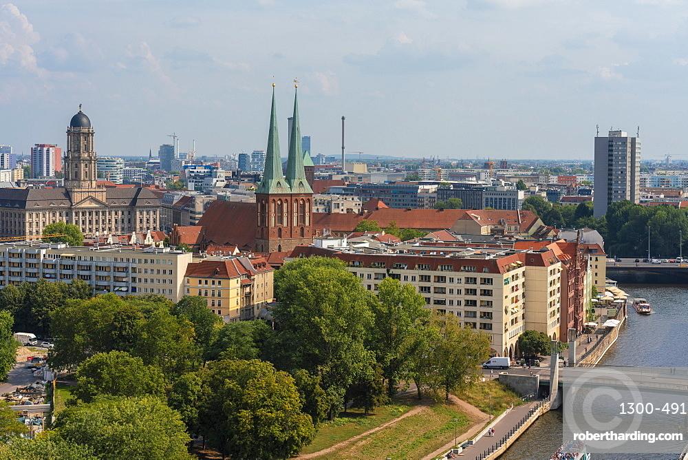 View of Nikolaiviertel, nicolas quarter in Berlin