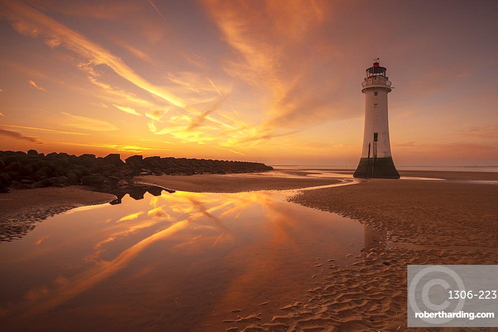 Perch Rock lighthouse, New Brighton, Merseyside,The Wirral, England, United Kingdom, Europe