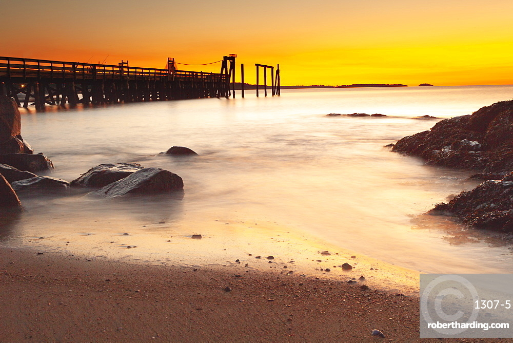 Salem Willows fishing pier, Salem, Massachusetts, New England, United States of America, North America
