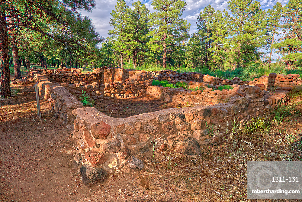 Elden Pueblo, site of ancient Sinagua village, in Flagstaff, Arizona, United States of America, North America