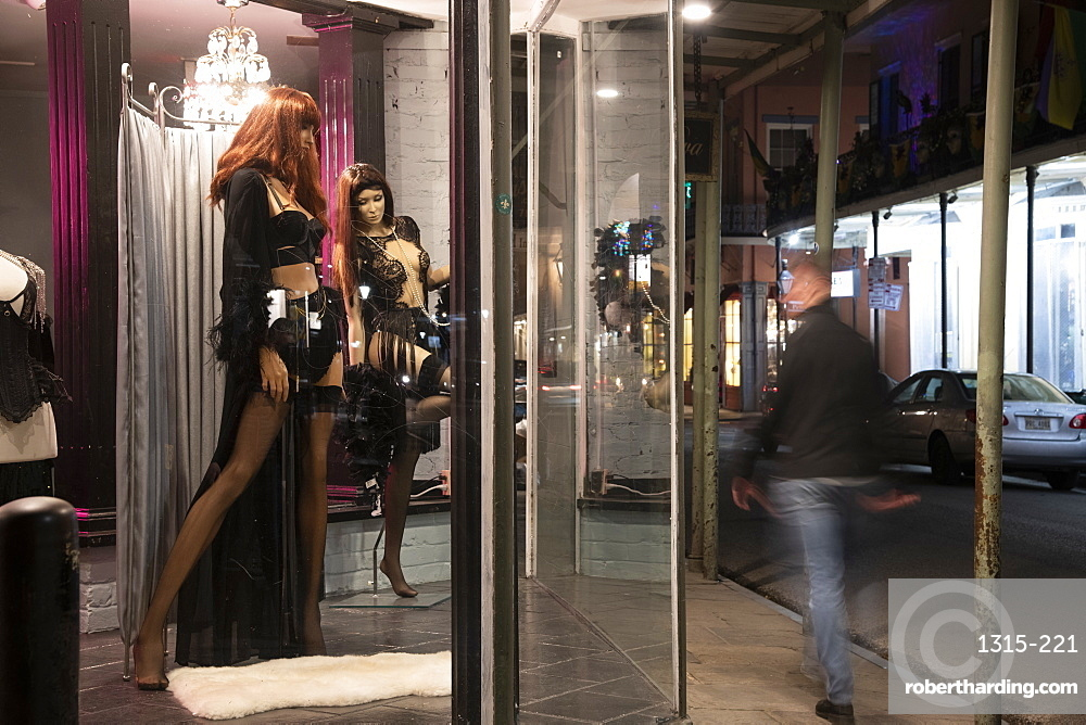 Window shopping in New Orleans, Louisiana, United States of America, North America