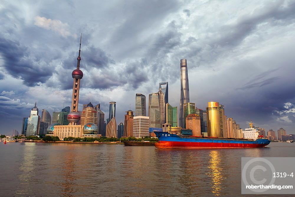 Shanghai Skyline, Shanghai, China, Asia