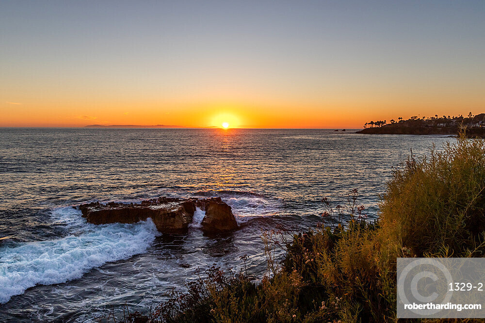 Laguna Beach sunset, California, United States of America, North America
