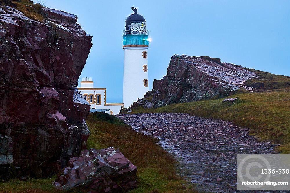 A track leading to Rua Reidh lighthouse, near Gairloch, Wester Ross, Scotland, United Kingdom, Europe