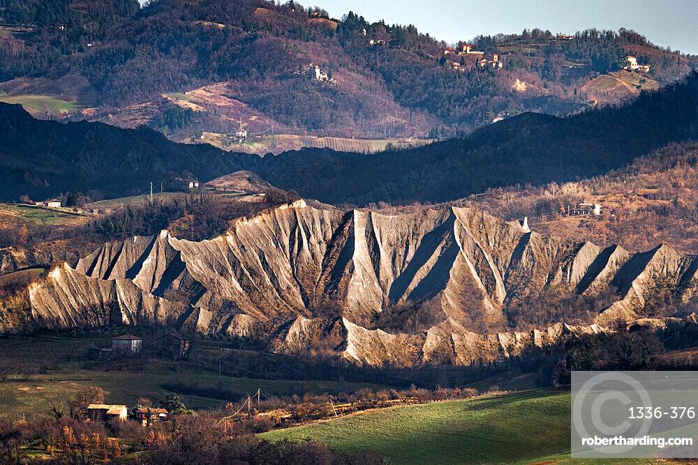 Countryside hills and badlands, Emilia Romagna, Italy, Europe