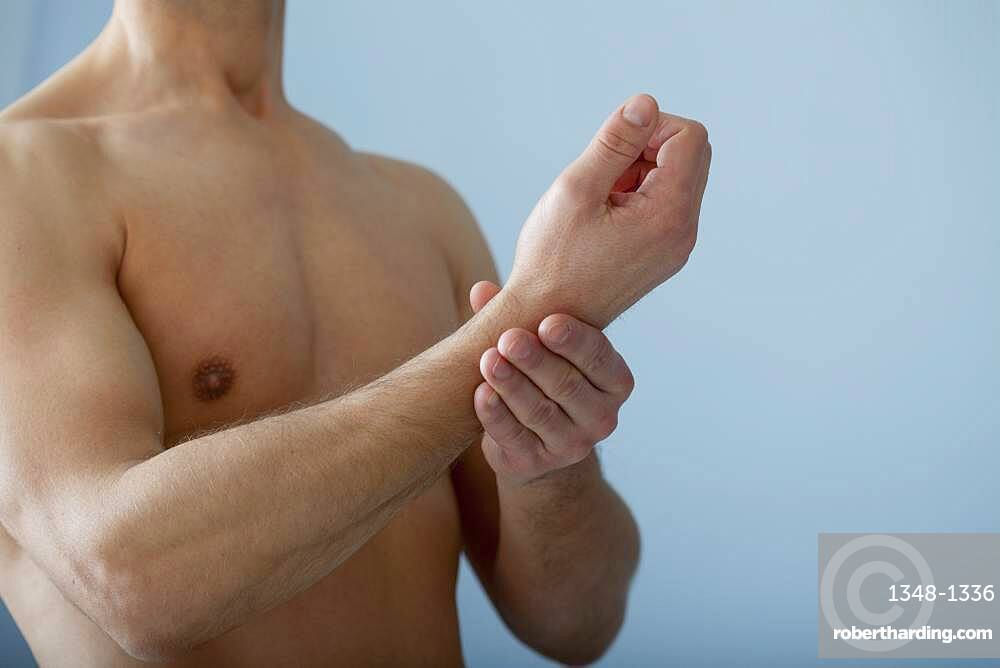 Painful wrist in a man
