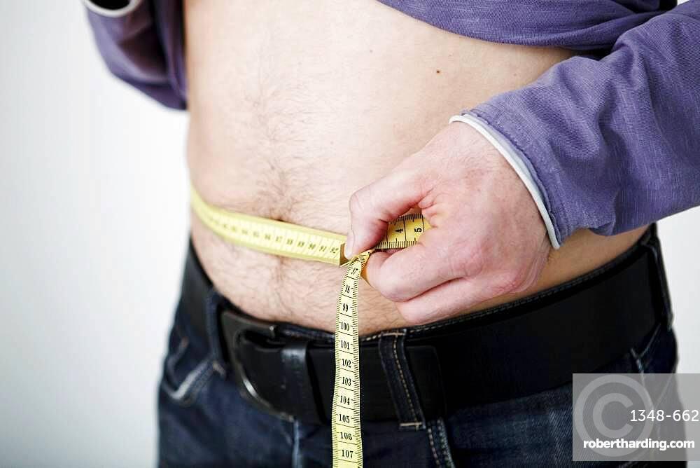 Man's waist circumference