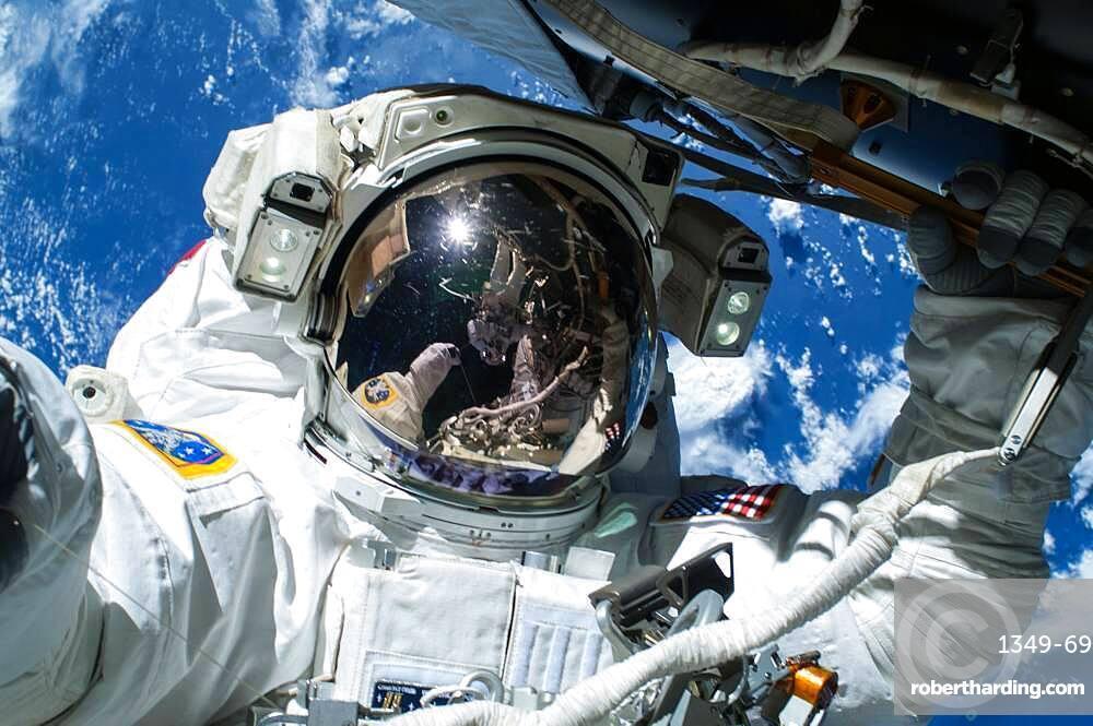Astronaut Barry Wilmore EVA