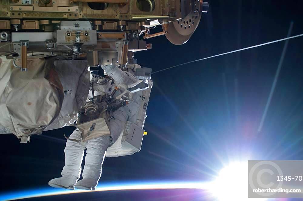Astronaut Terry Virts EVA