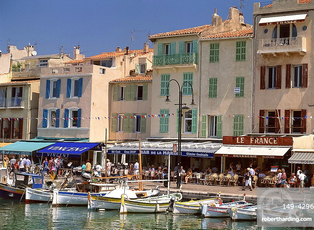 Cassis Harbour, Cote d'Azur, Provence, France, Mediterranean, Europe