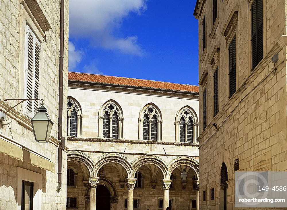 Colonnade on the Rector's Palace, Dubrovnik, Croatia, Europe