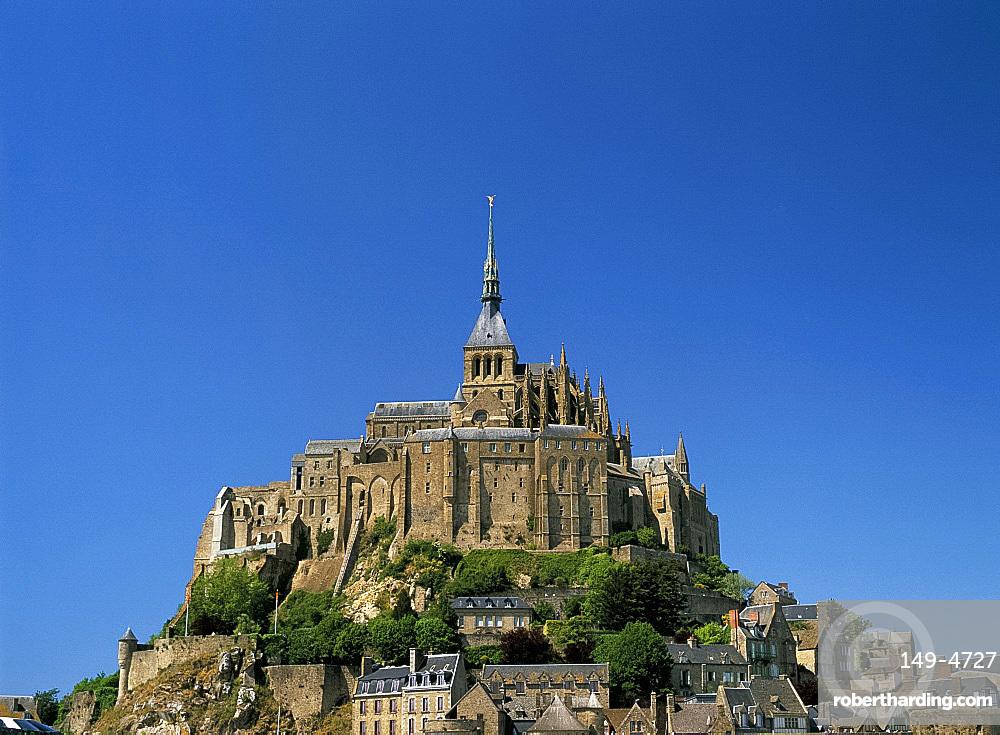 Mont Saint-Michel (Mont-St. Michel), UNESCO World Heritage Site, Normandy, France, Europe
