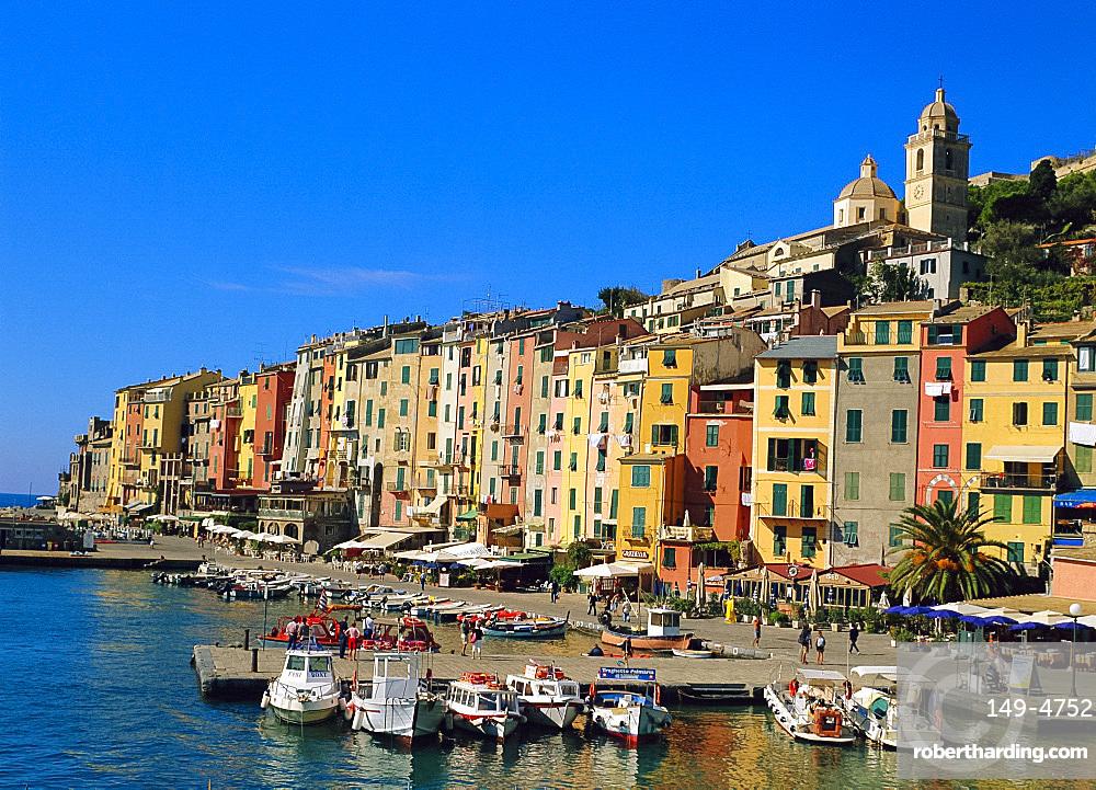 The harbour at Portovenere, Liguria, Italy