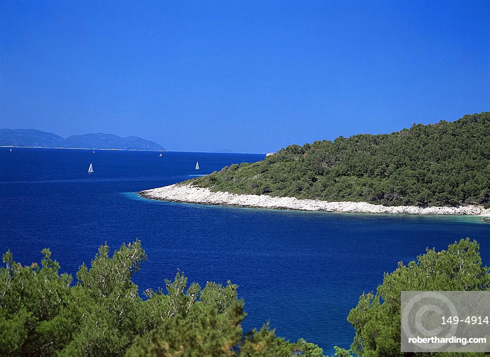 The Dalmatian Coast from the Island of Hvar, Dalmatia, Croatia, Europe