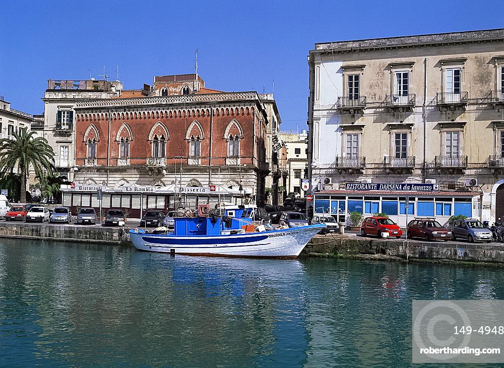 Old buildings, Syracuse, Sicily, Italy, Mediterranean, Europe