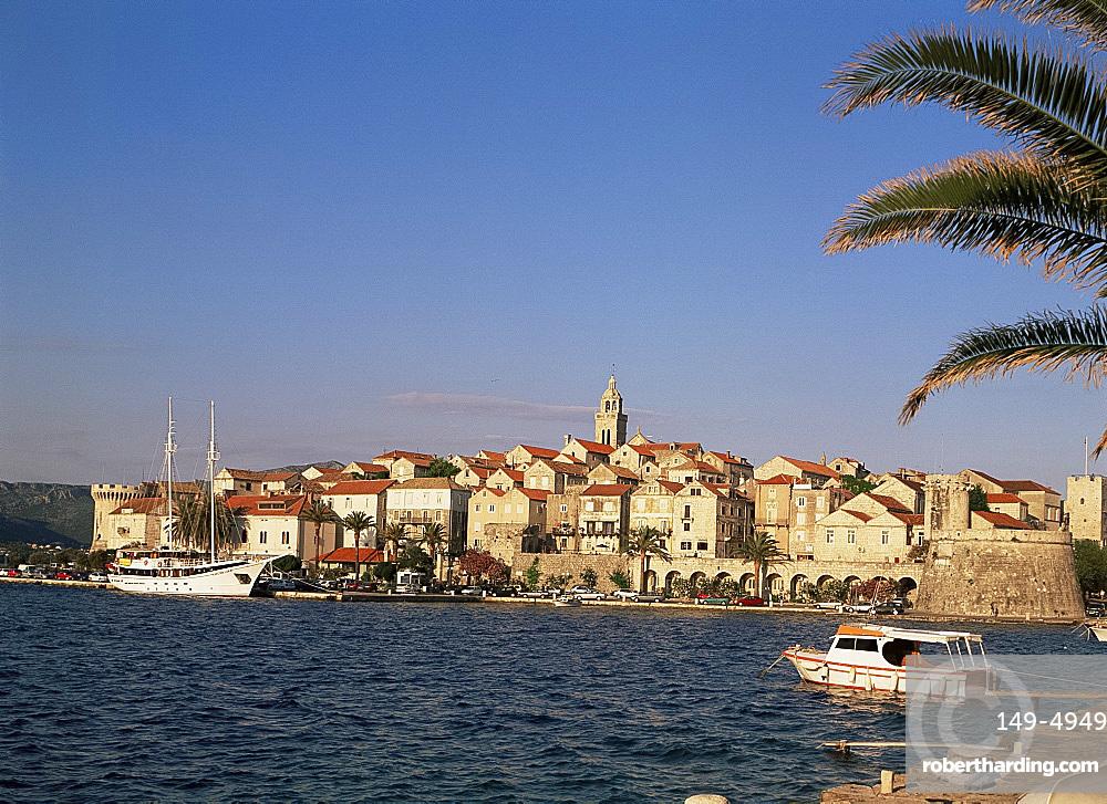 Korcula Old Town on the island of Korcula, Dalmatia, Croatia, Europe