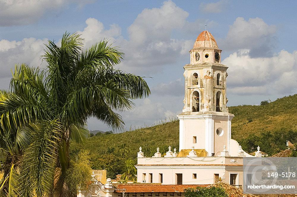 The belltower of Iglesia y Covento de San Francisco, Trinidad, UNESCO World Heritage Site, Cuba, West Indies, Central America