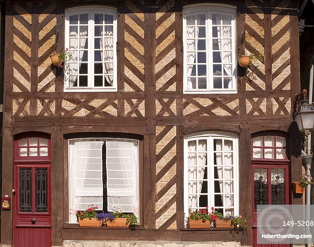 A half timbered house in Beauvron en Auge, Normandy, France, Europe