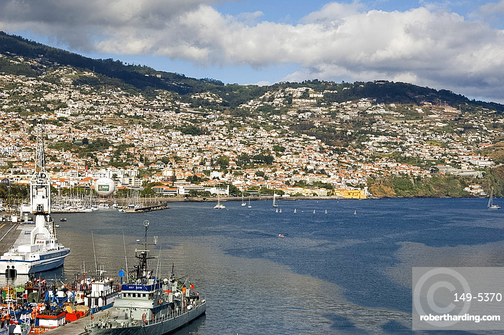 A view of Funchal and the harbour, Madeira, Portugal, Atlantic, Europe
