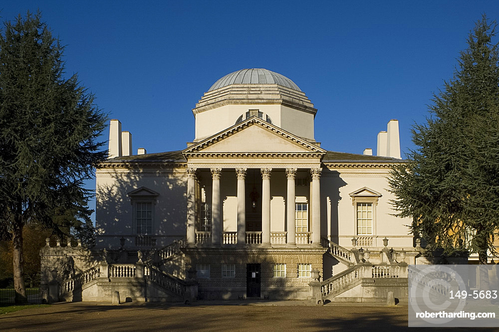 The neo-Palladian Chiswick House in West London, England, United Kingdom, Europe