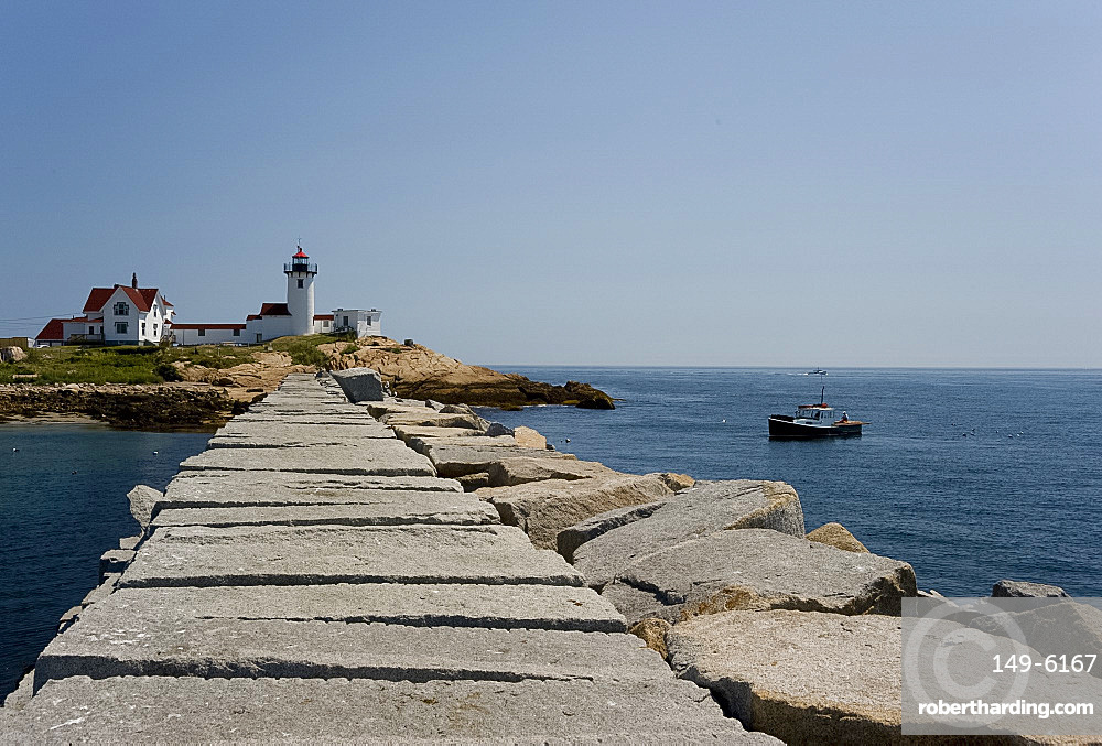The Eastern Point lighthouse, Gloucester, Massachussetts, New England, United States of America, North America