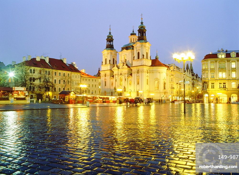 St. Nicholas Church, Old Town Square, Prague, Czech Republic, Europe