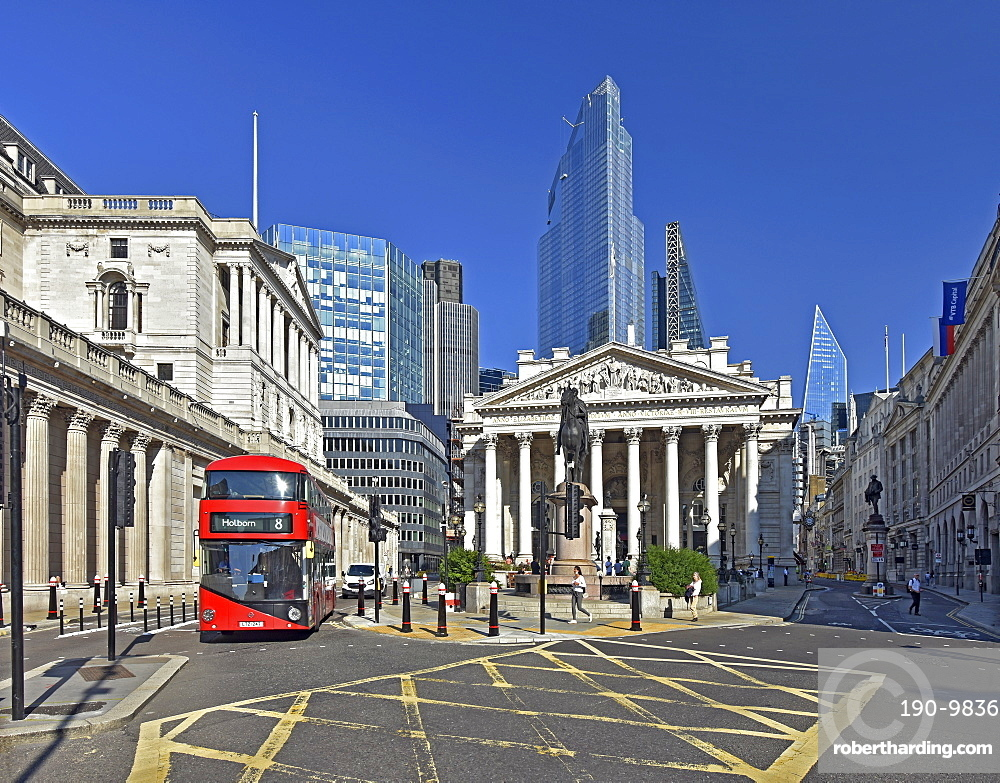Royal Exchange Building, City of London, London, England, United Kingdom, Europe